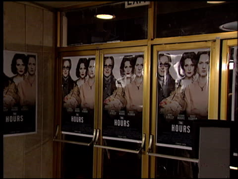 movie poster at the premiere of 'the hours' on december 18 2002 - movie poster stock videos & royalty-free footage