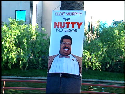 movie poster at the premiere of 'the nutty professor' at universal amphitheatre in universal city, california on june 28, 1996. - 1996 video stock e b–roll