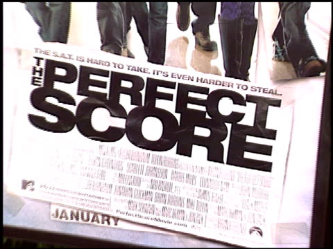 movie poster at the premiere of 'the perfect score' at the cinerama dome at arclight cinemas in hollywood, california on january 27, 2004. - arclight cinemas hollywood stock videos & royalty-free footage