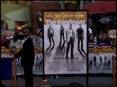 movie poster at the premiere of 'the rundown' at universal amphitheatre in universal city california on september 22 2003 - movie poster stock videos & royalty-free footage