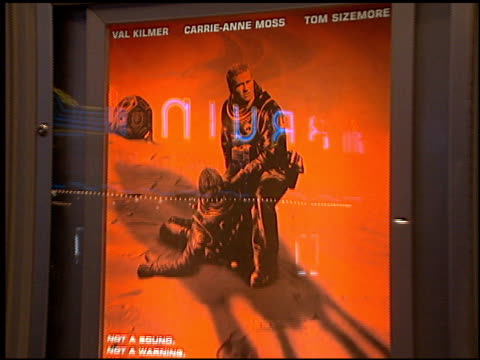 movie poster at the 'red planet' premiere on november 6 2000 - movie poster stock videos & royalty-free footage