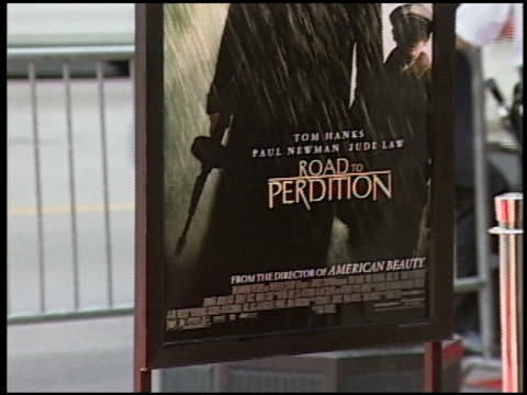 movie poster at the 'road to perdition' chicago premiere on september 25 2002 - movie poster stock videos & royalty-free footage