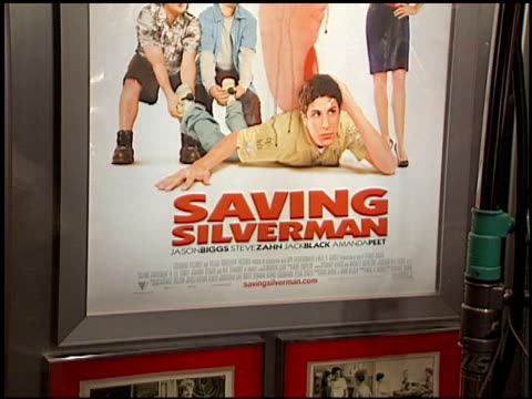 movie poster at the 'saving silverman' premiere at the mann village theatre in westwood california on february 7 2001 - movie poster stock videos & royalty-free footage