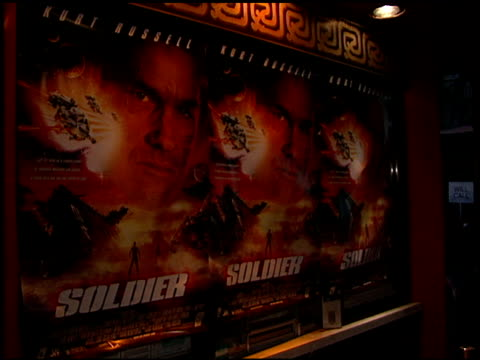 movie poster at the 'soldier' premiere at grauman's chinese theatre in hollywood california on october 21 1998 - movie poster stock videos & royalty-free footage
