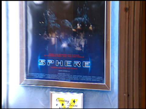 movie poster at the 'sphere' premiere on february 11 1998 - movie poster stock videos & royalty-free footage