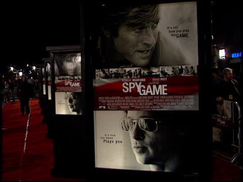 movie poster at the 'spy game' premiere on november 19 2001 - movie poster stock videos & royalty-free footage