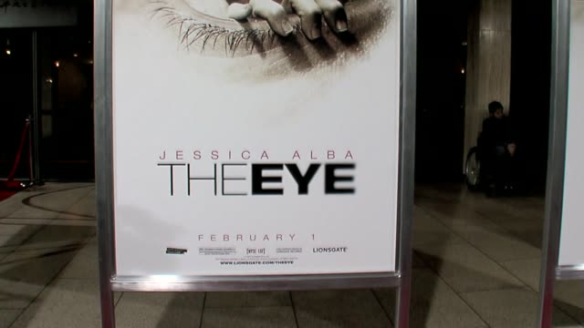 movie poster at the the eye premiere at the cinerama dome at arclight cinemas in hollywood california on february 1 2008 - arclight cinemas hollywood stock videos and b-roll footage