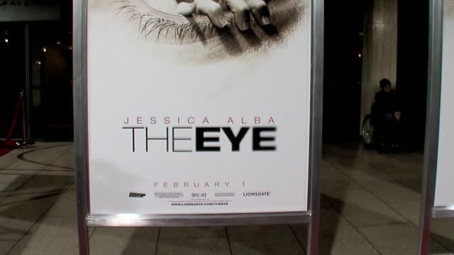 vídeos y material grabado en eventos de stock de movie poster at the the eye premiere at the cinerama dome at arclight cinemas in hollywood california on february 1 2008 - arclight cinemas hollywood