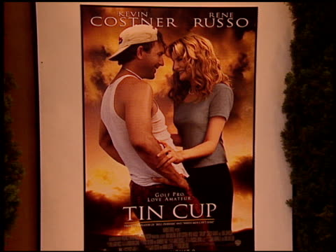 Movie Poster at the 'Tin Cup' Premiere at the Mann Village Theatre in Westwood California on August 1 1996