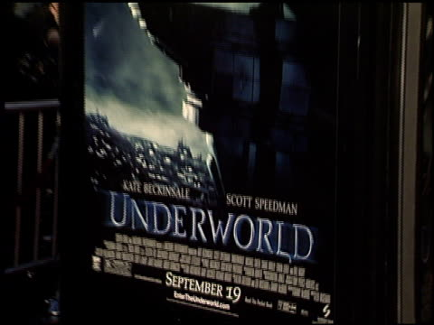 movie poster at the 'underworld' premiere at grauman's chinese theatre in hollywood california on september 15 2003 - movie poster stock videos & royalty-free footage