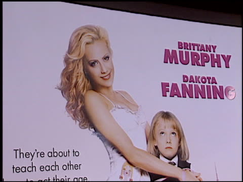 movie poster at the 'uptown girls' premiere at the cinerama dome at arclight cinemas in hollywood california on august 4 2003 - arclight cinemas hollywood video stock e b–roll