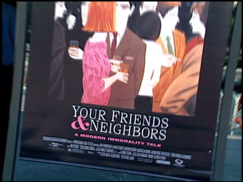 movie poster at the 'your friends and neighbors' premiere at dga theater in los angeles california on august 17 1998 - dga theater stock videos & royalty-free footage