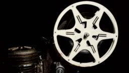 Movie Projector Reel Turning (HD)
