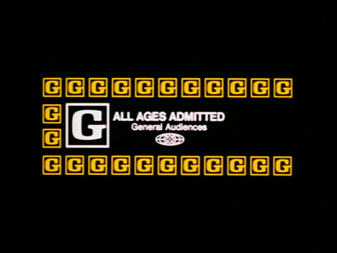 MPAA movie rating - G - All Ages Admitted