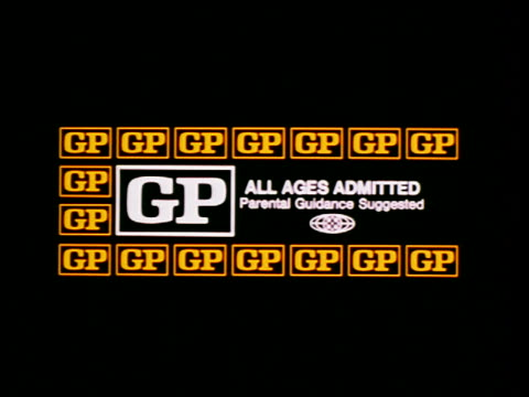 MPAA movie rating - GP - All Ages Admitted / Parental Guidancd Suggested