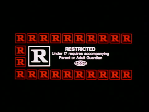 MPAA movie rating - R - Restricted / Under 17 requires accompanying Parent or Adult Guardian