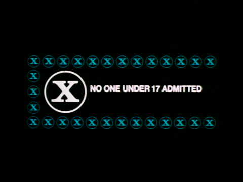 mpaa movie rating - x - no one under 17 admitted - raw footage stock videos & royalty-free footage