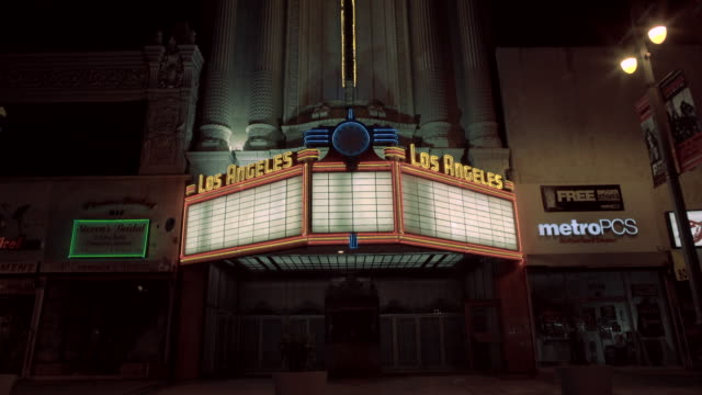movie theater entrance - twin peaks - street light stock videos & royalty-free footage