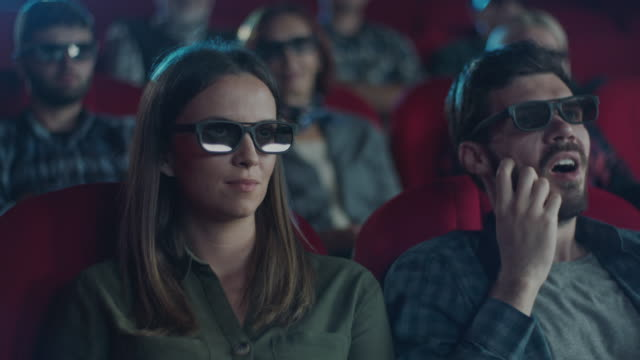 movies night! - 3d glasses stock videos & royalty-free footage