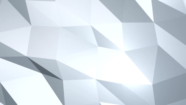 Moving abstract 3d white background with chaotic polygonal structure
