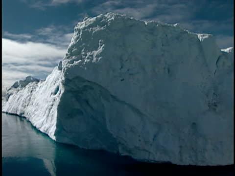 vídeos y material grabado en eventos de stock de pov, moving along glacier, ilulissat icefjord, greenland - monocromo imagen virada