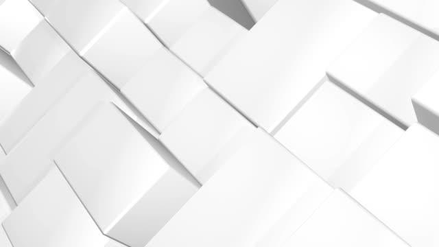 vídeos de stock e filmes b-roll de moving blocks | motion loop - cubo