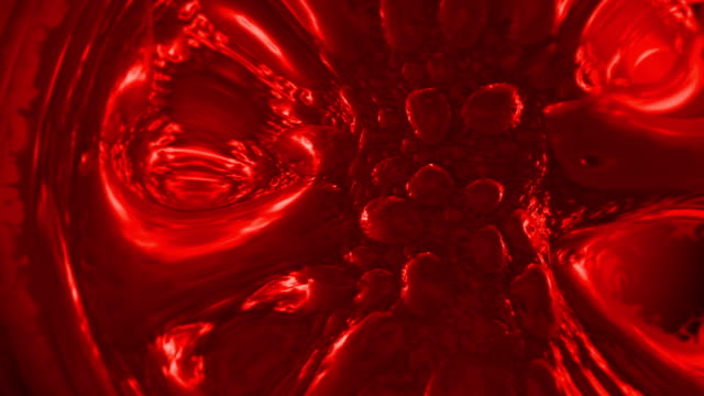 moving blood cell closeup - globulo rosso video stock e b–roll