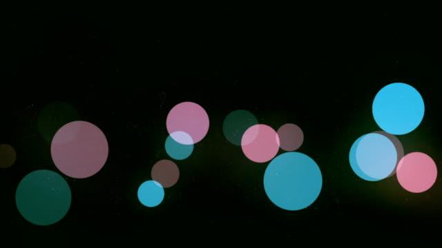 グラデーション背景無限ループ上のボケ粒子の移動 - デフォーカス点の映像素材/bロール