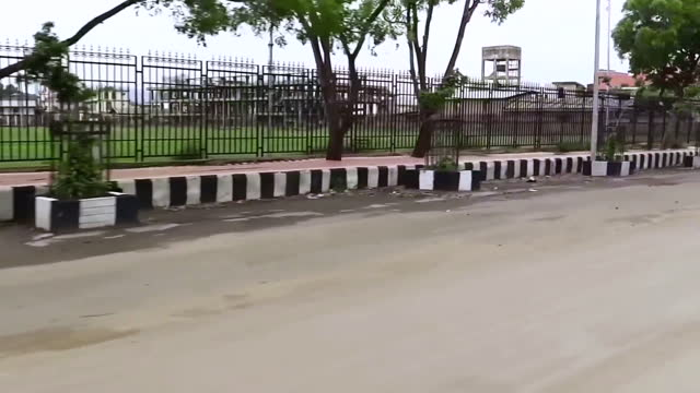 moving car pov, gates of the royal palace, imphal, india - darstellen stock-videos und b-roll-filmmaterial