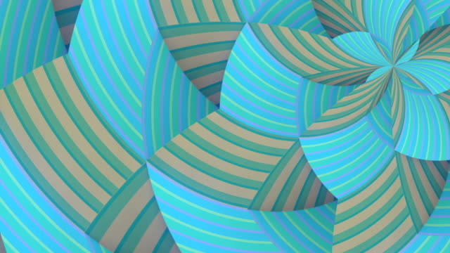 moving circular geometric striped pattern. digital seamless loop animation. 3d rendering. hd resolution - optical illusion stock videos & royalty-free footage