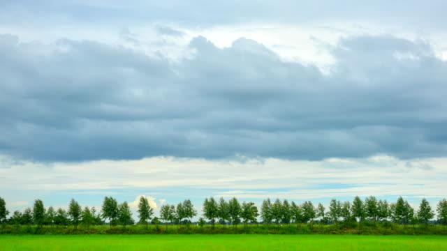 ファームの時間経過での雲の移動 - 麦わら帽子点の映像素材/bロール