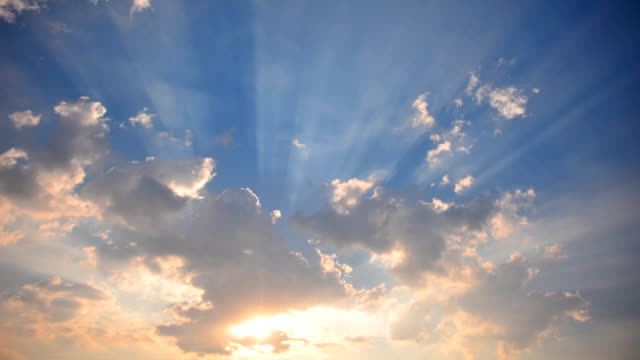 moving cloud at sunset time lapse 4k - high dynamic range imaging stock videos & royalty-free footage