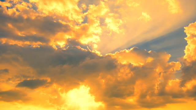 moving cloud at sunset - full hd format stock videos & royalty-free footage