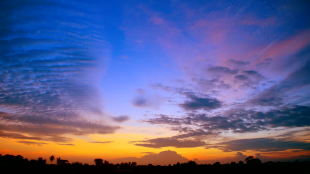 moving cloud at sunset - high dynamic range imaging stock videos and b-roll footage