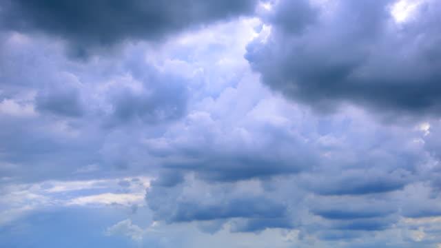 vídeos y material grabado en eventos de stock de traslado cloud time-lapse - nube de tormenta