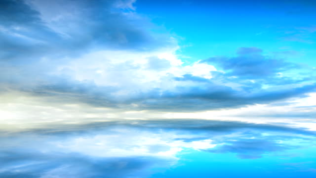 Moving clouds and reflection surface