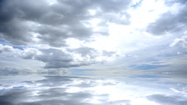 Moviendo las nubes y reflejo de superficie
