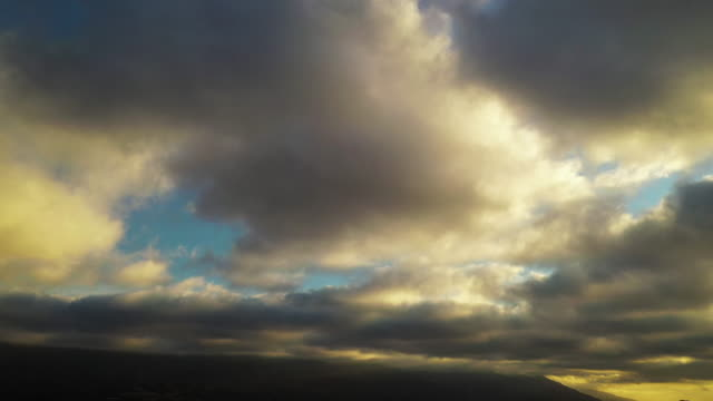 moving clouds over los angeles suburb - drone shot - angeles national forest stock videos and b-roll footage
