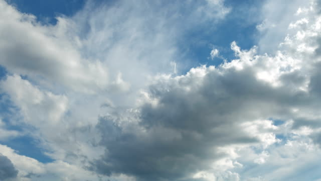 moving clouds time lapse ,moody blue clouds sky - perpetual motion stock videos & royalty-free footage