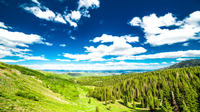 spostamento di nuvole - park city utah video stock e b–roll