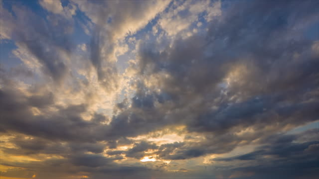 moving cloudscape at sunset, time lapse - high dynamic range imaging stock videos and b-roll footage