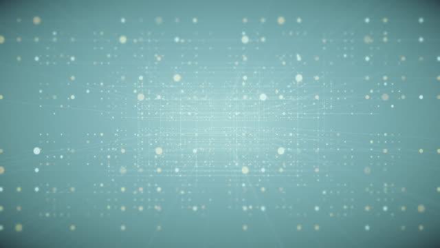 vídeos y material grabado en eventos de stock de mover líneas de conexión con puntos moteados - progreso conceptos