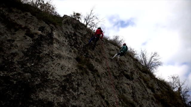 Moving down on the cliff