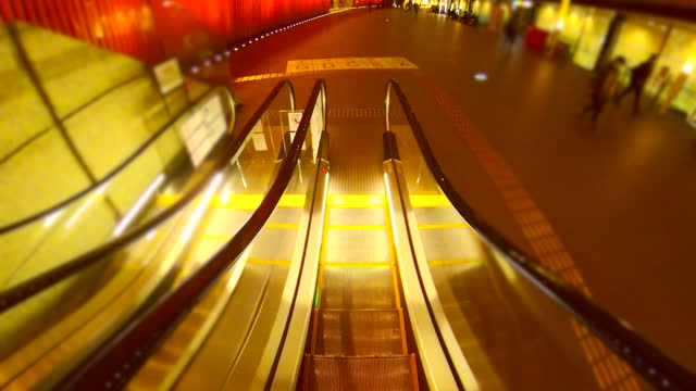 moving down the escalator. person point of view - plusphoto stock videos & royalty-free footage