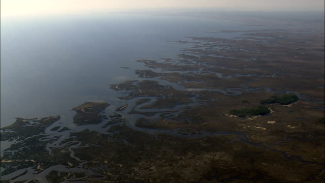 Moving Down Towards Inlets And Creeks  - Aerial View - Florida,  Taylor County,  United States