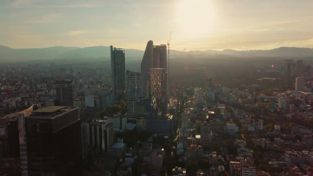 moving forward to the modern skyscrapers in mexico city - mexican culture stock videos & royalty-free footage