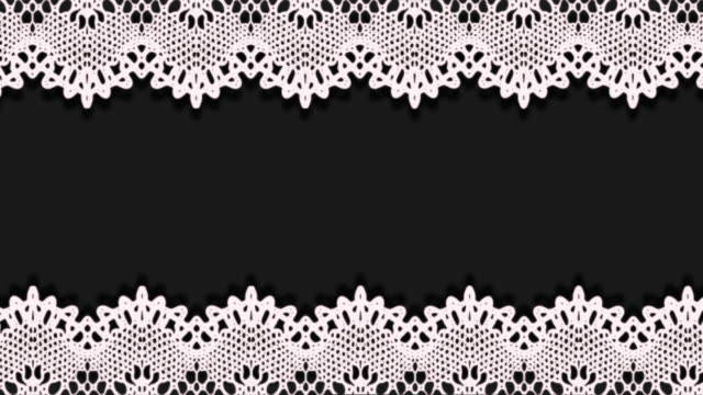 moving lace pattern abstract frame - illustration stock videos & royalty-free footage