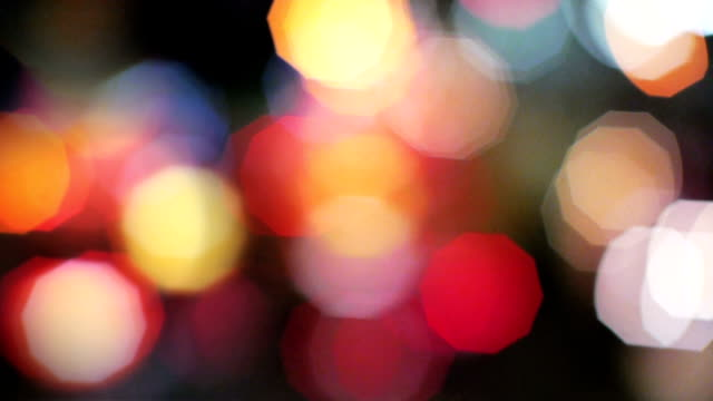 moving light bokeh - headlight stock videos & royalty-free footage
