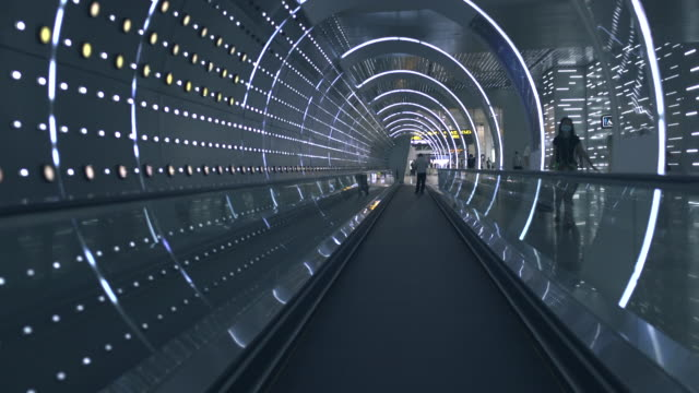moving light effect tunnel - concrete stock videos & royalty-free footage