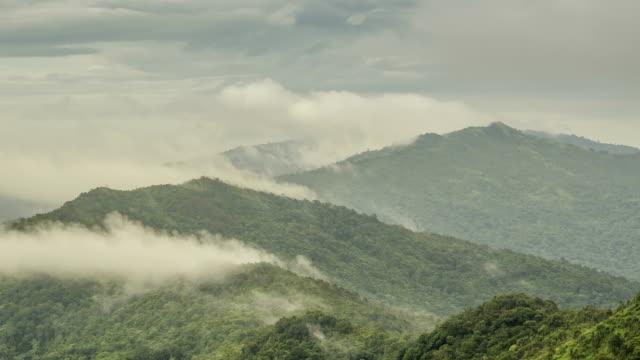 TL: Nebel bewegen ist nur ueber Berge Gipfel in Regenzeiten zu schweben